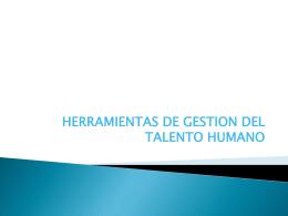 herramientas de gestión del talento humano