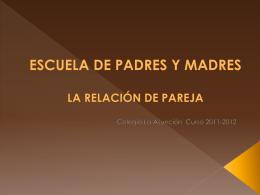 Relación en pareja - Colegio La Asunción de León
