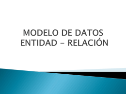MODELO DE DATOS ENTIDAD