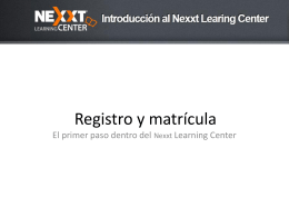 Bienvenido - Nexxt Learning Center