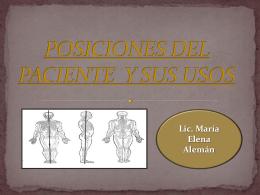 posiciones del paciente y sus usos