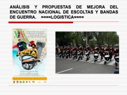 Manual para Instrucción de Bandas de Guerra, Escoltas y Guiones