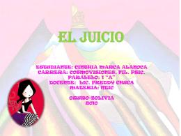EL JUICIO DIAPOSITIVA