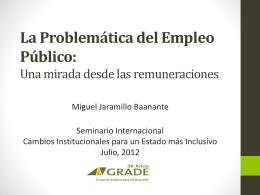 La Problemática del Empleo Público: Una mirada desde las