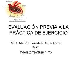 evaluación previa a la práctica de ejercicio