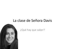 La clase de Señora Davis - ESPANOLDAVIS15