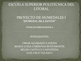 humedal isla santay - Escuela Superior Politécnica del Litoral