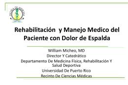 Rehabilitación y Manejo Medico del Paciente con Dolor de Espalda