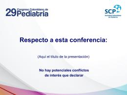 Respecto a esta conferencia: