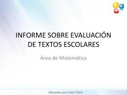 Área de Matemática - Ministerio de Educación