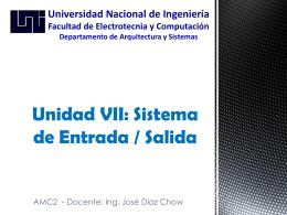 Unidad VII: Sistema de Entrada / Salida