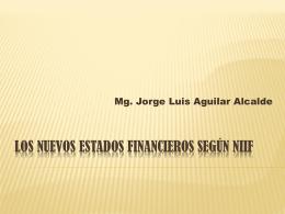 LOS NUEVOS ESTADOS FINANCIEROS SEGÚN NIIF