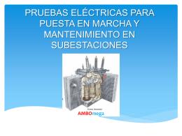 pruebas eléctricas para puesta en marcha y mantenimiento de