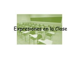Expresiones en la Clase
