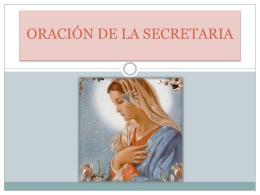 oración de la secretaria