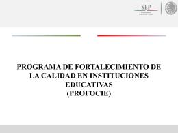 Presentación de los Fondos Extraordinarios 2014 (PROFOCIE