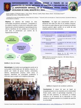 para ver POSTER - Universidad de La Sabana