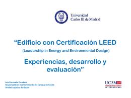 Presentación edificio 18. - Universidad Carlos III de Madrid