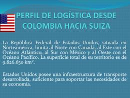 perfil de logística desde estados unidos hacia colombia