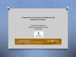 «Experiencia en el apoyo a la inducción de profesores noveles y