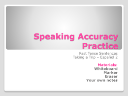 Speaking Accuracy Practice