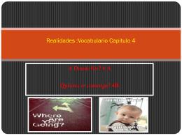 Vocabulario Capitulo 4