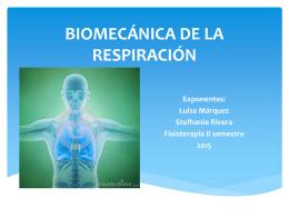 BIOMECÁNICA DE LA RESPIRACIÓN