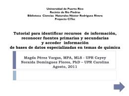 - Biblioteca Ciencias Naturales Universidad de Puerto Rico