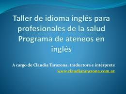 Taller de idioma inglés para profesionales de la