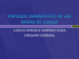 ENFOQUE DIAGNÓSTICO DE LAS MASAS DE CUELLO