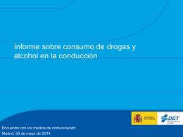 Informe sobre consumo de drogas y alcohol en la conducción