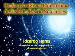 Hacia una gran unificación de las estrellas de