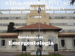 Guardias - Hospital Interzonal General de Agudos