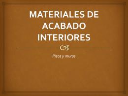 ATI MATERIALES DE ACABADO INTERIORES