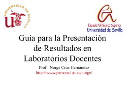 Guía para la Presentación de Resultados en Laboratorios Docentes