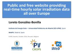 Generación de datos de radiación solar a partir de datos