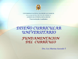 Perfil Profesional - Vicerrectorado Academico