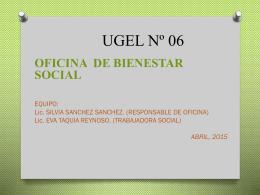 FUNCIONES: Artículo 42º.-Depende del Jefe del Área de - UGEL-06