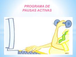 Pausa activa - ACTIVIDADES DEPORTIVAS DE LA FES ZARAGOZA