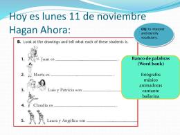 Hoy es lunes 11 de noviembre Hagan Ahora: