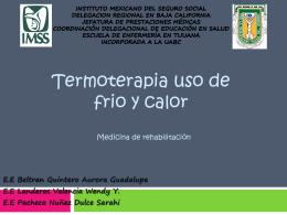 Termoterapia uso de frio y calor - coord-5to-semestre