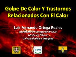 Trastornos relacionados con el calor - Luis Ortega - 2014