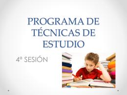 Programa de Técnicas de Estudio 4