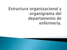 Estructura organizacional y organigrama del departamento de