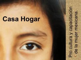 Casa Hogar Procultura de la mujer mexicana