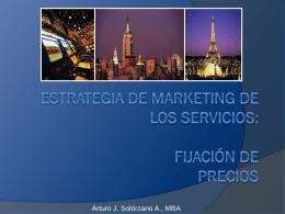 Marketing del Turismo - Fijación de Precios