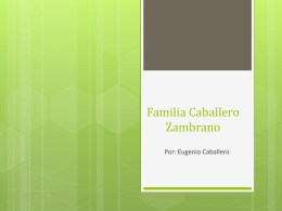 Familia Caballero Zambrano