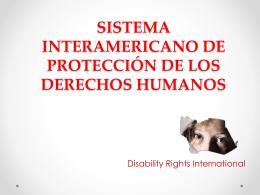 Sistema Interamericano de Protección de los Derechos Humanos (ppt)
