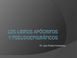 los libros apócrifos y pseudoepigráficos