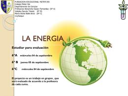 LA ENERGIA - Fundación Educacional Mater Dei